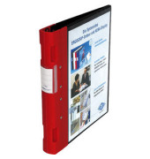 Präsentations-Ringbuch Ergogrip rot 313x40x280mm 4 Ringe