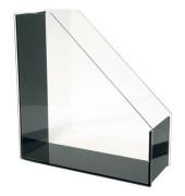Stehsammler 60 1301 Exklusiv 95x262x284mm A4 Acryl transparent/schwarz