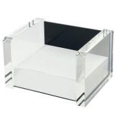 Zettelbox Acryl Exklusiv, farblos/schwarz, glasklar