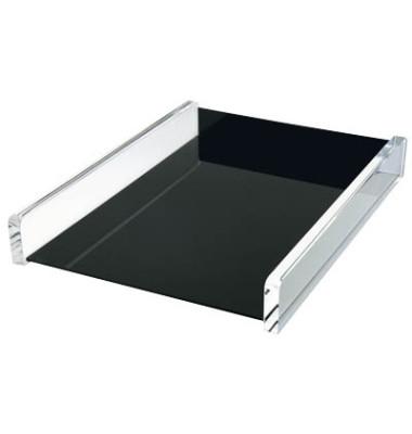 Briefablage Acryl Exklusiv A4 / C4 schwarz / glasklar