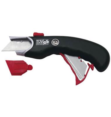 Cutter Safety Profi für Rechts- und Linkshänder schwarz/rot 19mm 78815