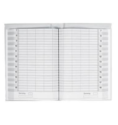 Buchkalender Ultraplan 1Tag/2Seiten schwarz 19x27,5cm Jahresunabhängig