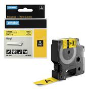 Schriftbandkassette, Rhino, permanent schwarz auf gelb 19mm x 5,5m