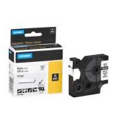 Schriftbandkassette, Rhino, permanent schwarz auf weiß 9mm x 5,5m