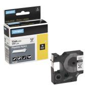 Schriftbandkassette, Rhino, Nylon schwarz auf weiß 12 mm x 3,5 m