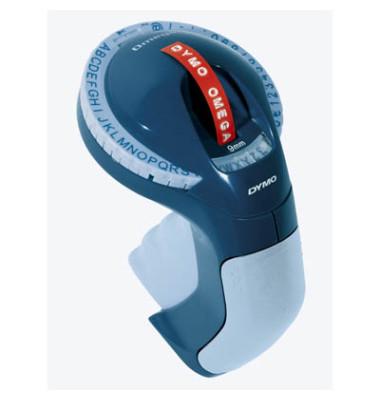 Beschriftungsgerät Omega 49 Zeichen grau 9mm x 2m/3m