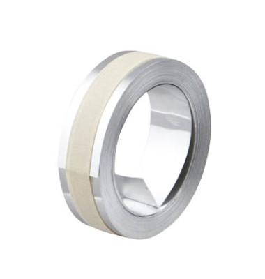 Rhino Aluminium-Prägeband 31000 12mm x 4,8m weiß/silber abriebfest