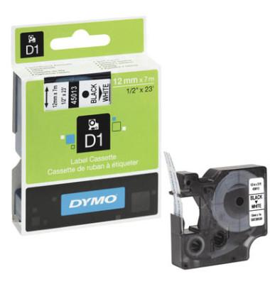D1 45013 für  LabelPOINT -MANAGER schwarz auf weiß 12mm x 7m
