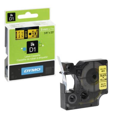 Schriftbandkassette 12mm schwarz auf neon-grün für Dymo LabelPoint 350 300