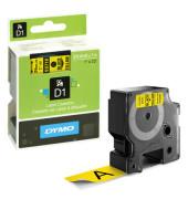 D1 Schriftband S0720980 24mm x 7m schwarz/gelb laminiert selbstklebend