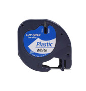 Plastikband für LetraTag weiß 12mm x 4m Druck schwarz