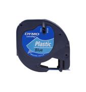 Plastikband für LetraTag blau 12mm x 4m Druck sw