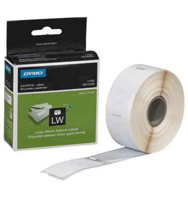 S0722520 Adressetiketten 25 x 54 mm weiß für Retour 500 Stück