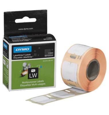 Etiketten S0722530 24 x 12 mm weiß auf Rolle 1000 Stück