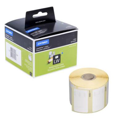 Etiketten S0722540 57 x 32 mm weiß auf Rolle 1000 Stück