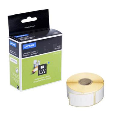 Etiketten S0722550 51 x 19 mm weiß auf Rolle 500 Stück