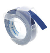 3D Plastik-Prägeband S0898140 9mm x 3m weiß/blau abriebfest selbstklebend