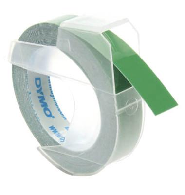 3D Plastik-Prägeband S0898160 9mm x 3m weiß/grün abriebfest selbstklebend