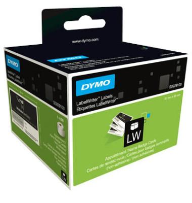 Etikett LabelWriter, Terminkarte, nicht klebend, 51x89mm, weiß (300 stk)