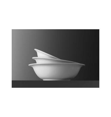 Salatschüssel Minoa Ø 15cm weiß Porzellan stapelbar