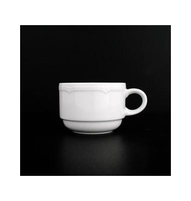 Kaffeetasse Minoa 180ml weiß Porzellan stapelbar