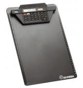 Klemmbrett A4  schwarz mit Rechner       Ecob