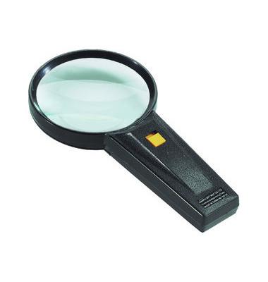 Hobby-Leuchtlupe 5-fache Vergrößerung 75er Linse schwarz