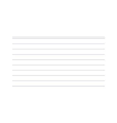 Karteikarten 10800S A7 liniert 205g weiß 100 Stück