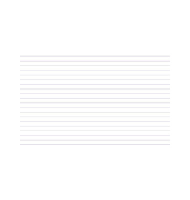 Karteikarten 10808S A5 liniert 205g weiß 100 Stück
