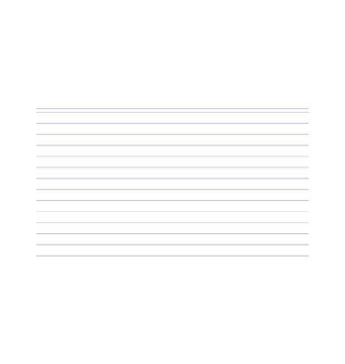 Karteikarten 10809S A6 liniert 205g weiß 100 Stück
