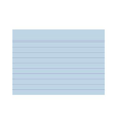 Karteikarten 10810S A7 liniert 205g blau 100 Stück