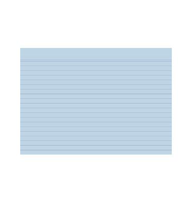 Karteikarten 10818S A5 liniert 205g blau 100 Stück
