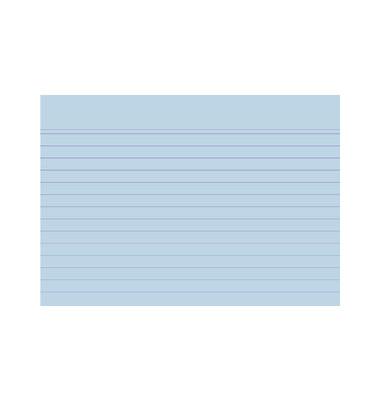 Karteikarten 10819S A6 liniert 205g blau 100 Stück