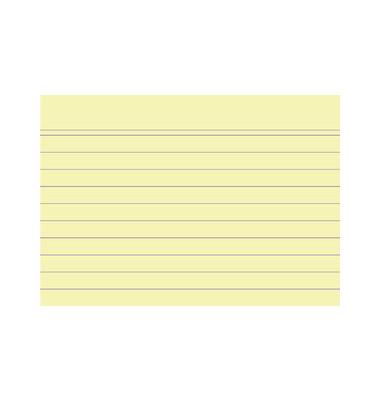 Karteikarten 10820S A7 liniert 205g gelb 100 Stück