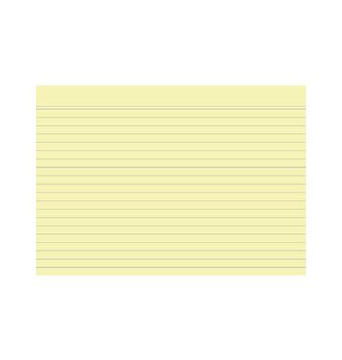 Karteikarten 10828S A5 liniert 205g gelb 100 Stück