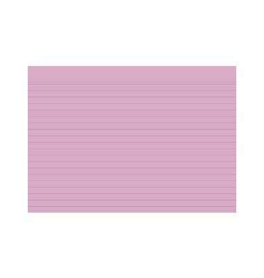 Karteikarten 10838S A5 liniert 205g rosa 100 Stück