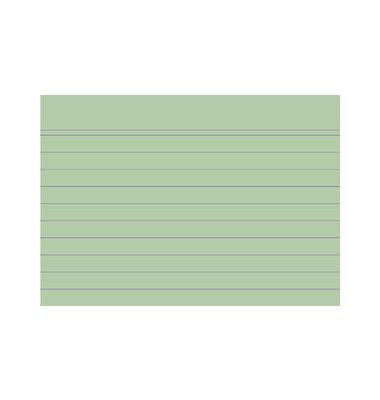Karteikarten 10840S A7 liniert 205g grün 100 Stück