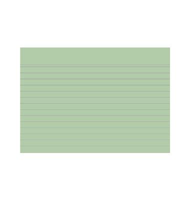 Karteikarten 10849S A6 liniert 205g grün 100 Stück
