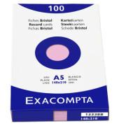 Karteikarten 13338B A5 blanko 205g rosa 100 Stück