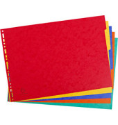 Kartonregister 2905E blanko A3-quer 400g farbige Taben 5-teilig