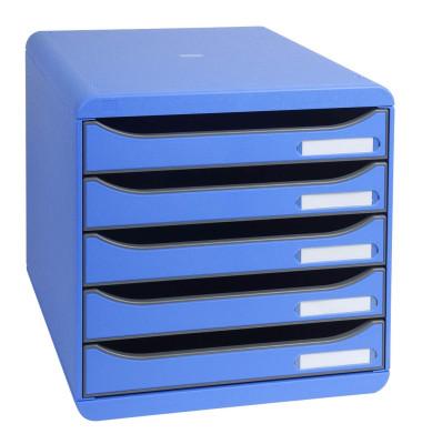 Schubladenbox Big-Box Plus eisblau/eisblau 5 Schubladen geschlossen