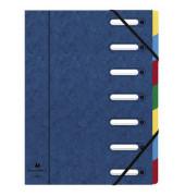 Ordnungsmappe Harmonika blau 7 Fächer