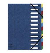Eckspannmappe Harmonika 12-teilig blau 240x320mm