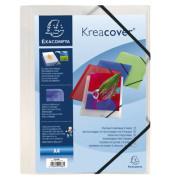 Einschlagmappe Kreacover®, PP, Eckspanngummi, A4, weiß, transparent