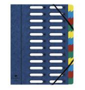 Sammelmappe Harmonika 24-teilig blau 240x320mm Manila