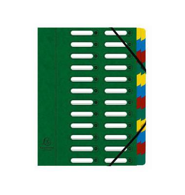 Eckspannmappe Harmonika 24-tlg. grün 240x320mm