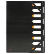 Ordnungsmappe Harmonika Exactive schwarz 320x240mm 9 Fächer