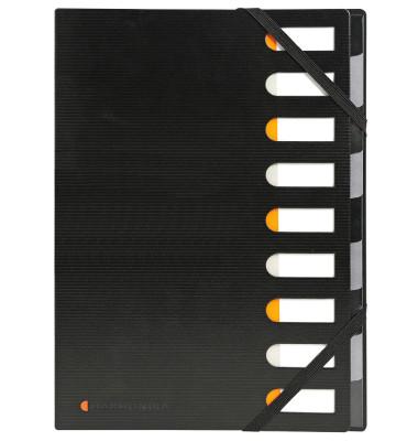 Ordnungsm.Harmonika Exactive schwarz 320x240mm 9 Fächer