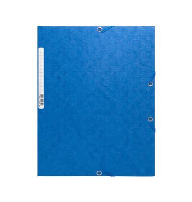 Sammelmappe Manila m.Gummizug blau 24x32cm 425g