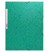 Sammelmappe Manila m.Gummizug grün 24x32cm 425g